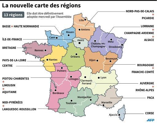 Nouvelle Carte Des Regions Semaine Charniere Pour La Reforme Territoriale Rtl Info