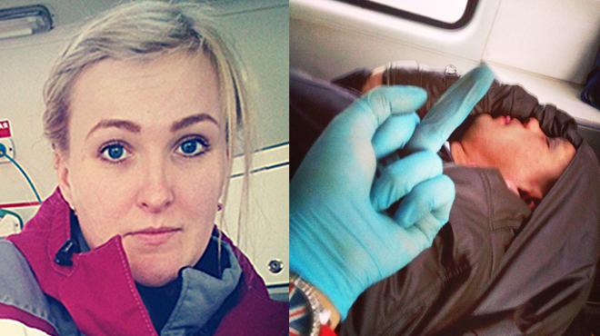 Elle prend des selfies à côté de patients en train de mourir, son employeur a vite réagi…