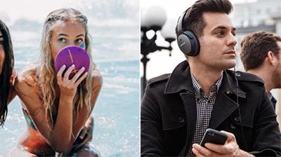 Du bon son pour l'été: une enceinte  portable étanche et un casque avec une incroyable