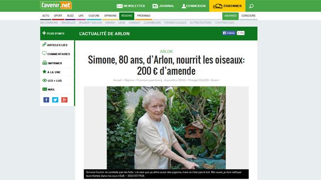 200€ d'amende pour Simone qui nourrit les oiseaux de son jardin :