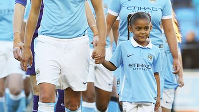 Picture of Vincent Kompany Daughter, called Sienna