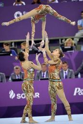 Euro de gymnastique acrobatique - Les Belges décrochent six médailles, dont une en or, lors de la dernière journée