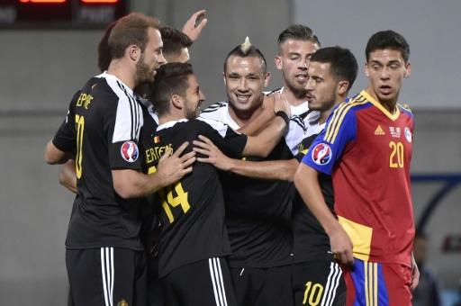 Euro-2016: la Belgique se qualifie facilement en Andorre