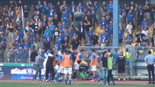 Chypre: le match au sommet tourne au pugilat entre joueurs et supporters (vidéo)