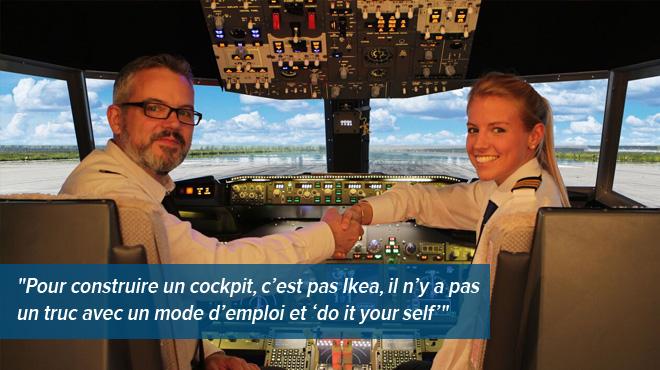 Terrifié à l'idée de prendre l'avion, ce Belge a créé un simulateur de vol ultra-réaliste: