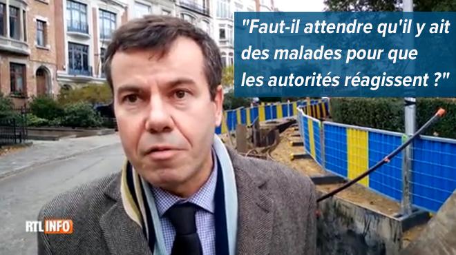 Une ligne de 150.000 volts dans une petite rue de Bruxelles effraye des riverains: