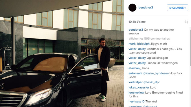 Wolfsburg sanctionne Bendtner à cause… d'une voiture (photo)