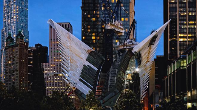 Inauguration de la gare du World Trade Center de New York