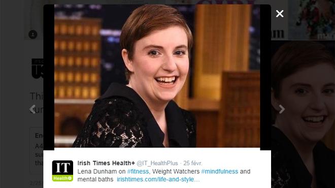 Lena Dunham, la créatrice de 'Girls', hospitalisée en raison de sa maladie