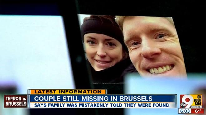 Attentats à Bruxelles: la famille de Justin et Stephanie Shults a été avertie de leur décès