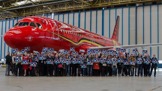 Notre équipe de foot a un nouvel Airbus: