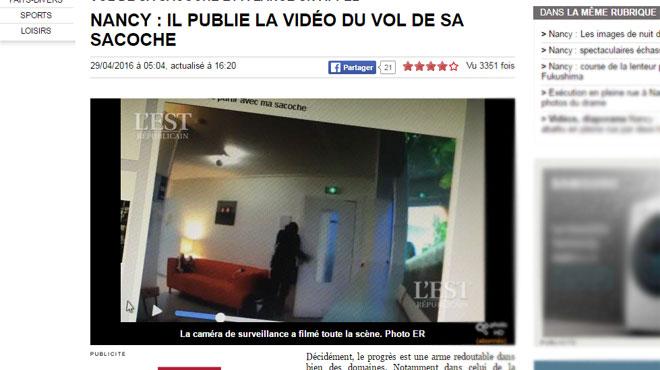 victime d 39 un vol il publie sur internet les images du larcin la voleuse porte plainte rtl info. Black Bedroom Furniture Sets. Home Design Ideas