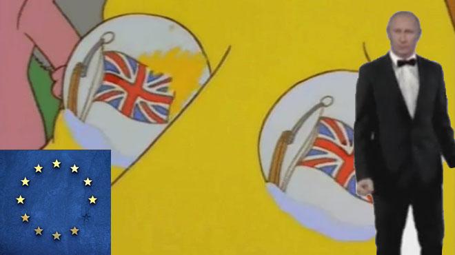 Scènes de fin du monde, Poutine dansant ou trinquant, nouveau drapeau européen: les réactions sur Twitter explosent après le vote historique du Brexit