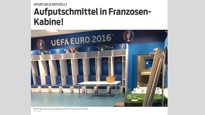 Euro 2016: le journal allemand Bild croit avoir trouvé des produits dopants dans le vestiaire de la France après le match contre l'Allemagne