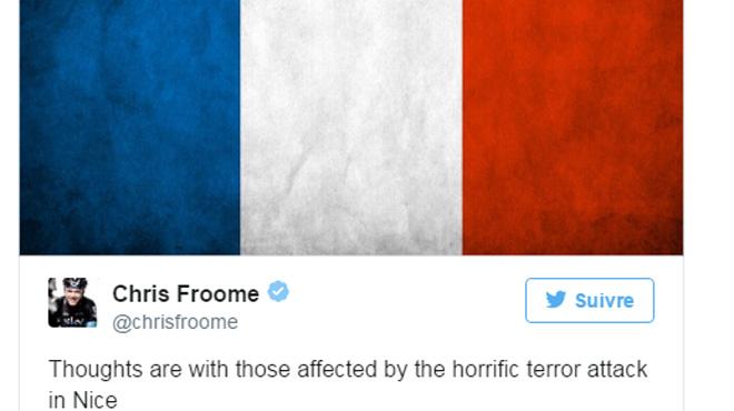 Attentat de Nice: des coureurs rendent hommage aux victimes, la 13e étape maintenue