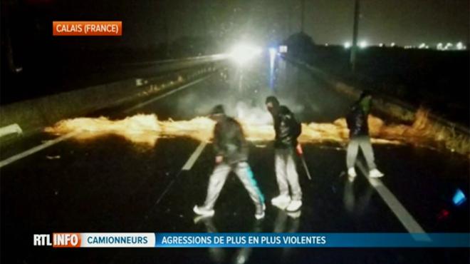 Les agressions ciblant des camions à Calais en hausse:
