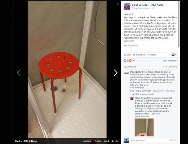 Cet homme se plaint auprès d'Ikea car un de ses testicules est resté coincé dans un tabouret