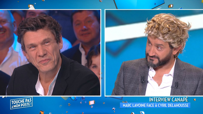 Déguisé en Laurent Delahousse, Cyril Hanouna drague Marc Lavoine: