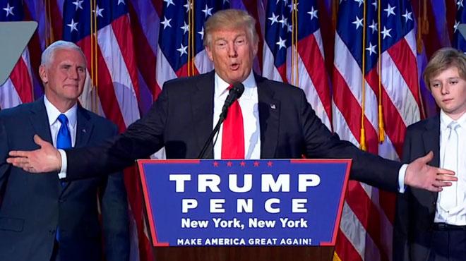 Voici le premier discours de Donald Trump, nouveau président des Etats-Unis