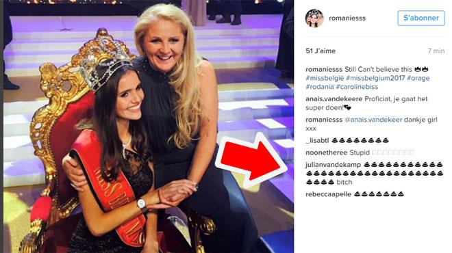 Pourquoi le compte Instagram de la nouvelle Miss Belgique est envahi d'émoticônes en forme de caca?