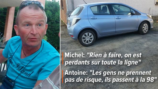 Après deux pleins d'essence E10, Michel et Antoine sont dépités:
