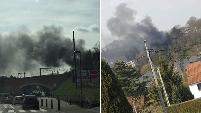 Ottignies: incendie au château Balzat en début d'après-midi