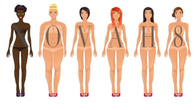 8, A, H, X, V ou O, quelle est votre morphologie? Voici comment le savoir... et ce que vous devriez porter (vidéos)