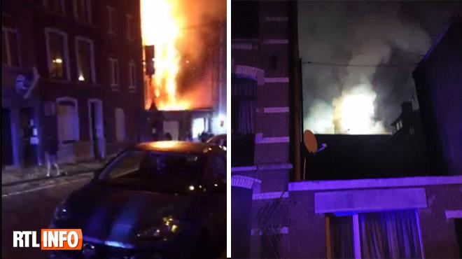 Un incendie a détruit un commissariat de police, cette nuit à Liège