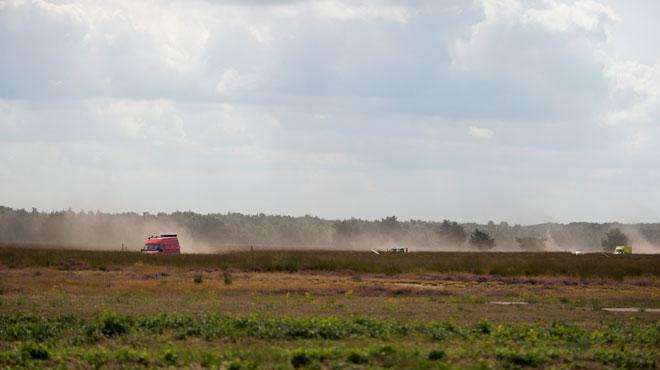 Un incendie ravage 70 hectares d'un terrain militaire de tir de Houthalen-Helchteren