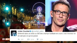 Julien Courbet était dans un restaurant sur les Champs-Elysées lors de l'attentat- On a vu les tables tomber les unes après les autres