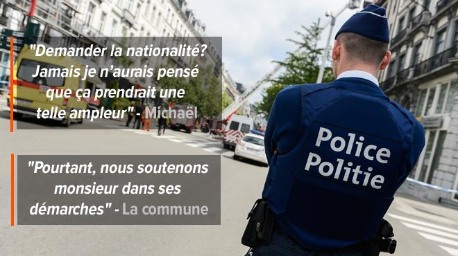 Michaël, né en Belgique de parents portugais, veut devenir policier: mais il faut être belge et il galère pour décrocher sa naturalisation à cause d'UN DÉTAIL