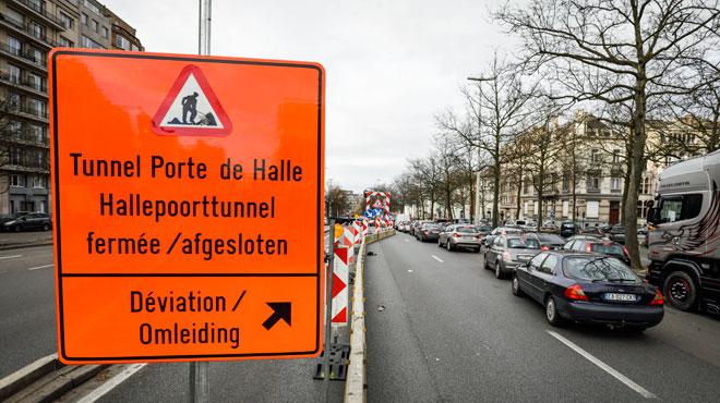 Le tunnel Porte de Hal encore fermé pour rénovation: évitez le secteur en voiture