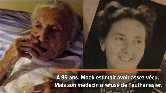 Moek, 99 ans, avale les médicaments devant la conduire vers la mort: son fils filme ses derniers instants pour prouver qu'elle était consciente