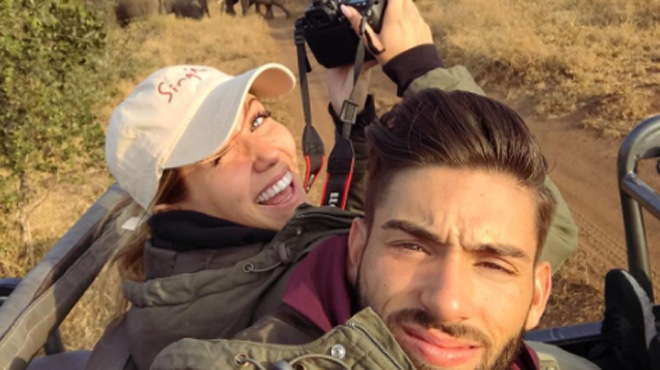 Noémie Happart et Yannick Carrasco s'offrent un splendide safari pour leur voyage de noces (photos)