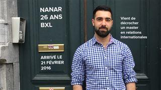 Nanar, réfugié syrien à Bruxelles depuis 1,5 an- Les Syriens sont fiers, demander de l'aide nous blesse