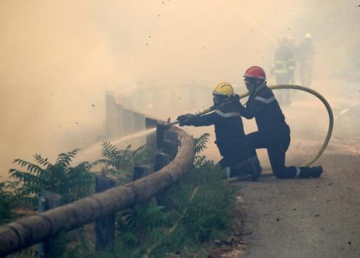 Le feu près de Nice ne progresse plus