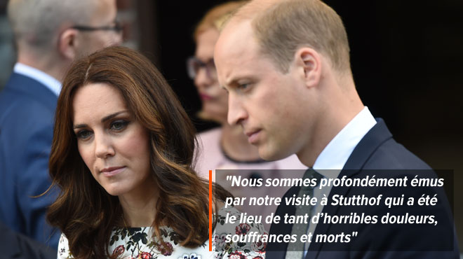 Le prince William et la princesse Kate bouleversés après leur visite d'un camp de concentration (vidéo)