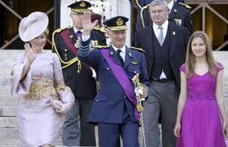 Le couple royal a assisté avec ses quatre enfants au Te Deum à Bruxelles