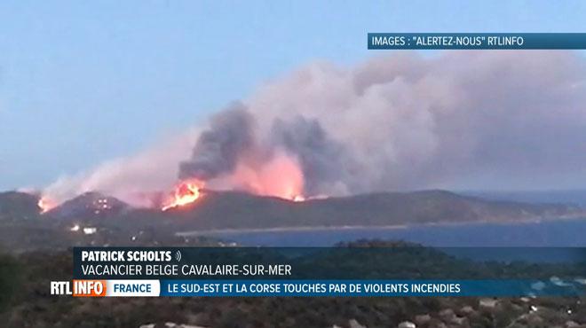Incendies en France: des Belges craignent pour leurs proches en vacances dans les régions sinistrées