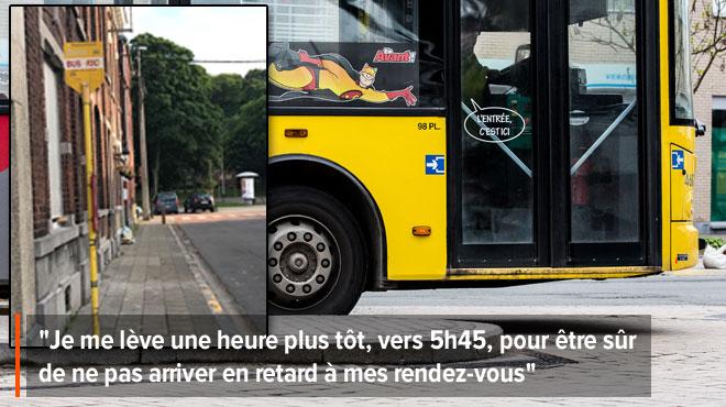 Dylan n'en peut plus des retards sur sa ligne de bus dans la région de Liège: