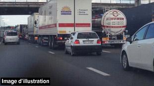 Accident de camion sur la E411 à hauteur de Verlaine