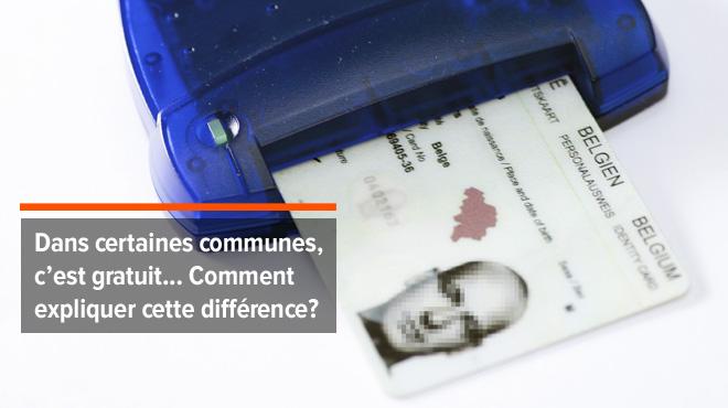 Raphaël dénonce: 40 euros pour une carte d'identité à Soignies, le prix a plus que doublé en trois ans