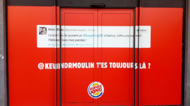 Kevin ne pensait pas qu'un Burger King ouvrirait un jour à Namur, la chaîne se moque de lui (photo)