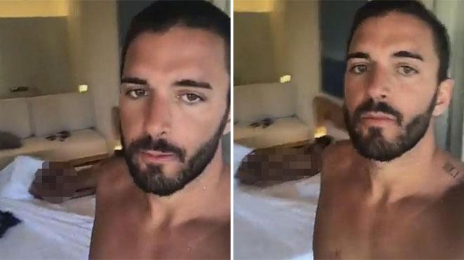 Oops! Thomas publie une vidéo sur Snapchat mais ne réalise pas que Nabilla est toute nue derrière lui