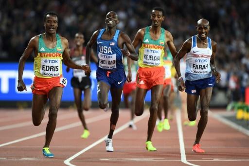Athlétisme: l'Ethiopien Muktar Edris sacré sur 5.000 m et bat le Britannique Mo Farah