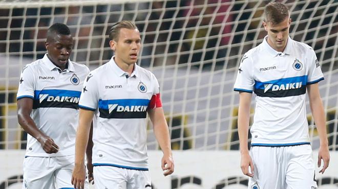 Bruges battu sèchement par l'AEK Athènes sort prématurément de la scène européenne