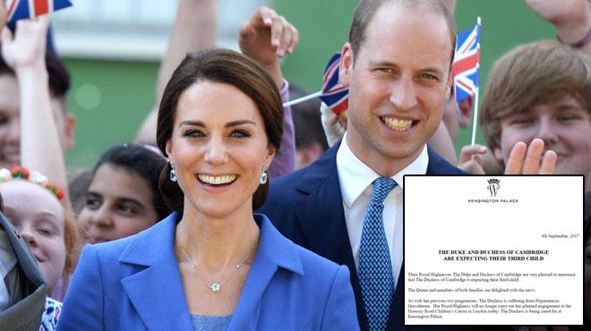 William et Kate attendent leur troisième enfant: Kate n'a pas encore atteint le stade des 12 semaines