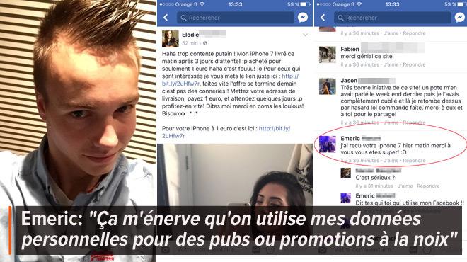 L'ARNAQUE du smartphone à 1€ sur Facebook: les escrocs ont piraté le compte de ce Tubizien pour la rendre crédible