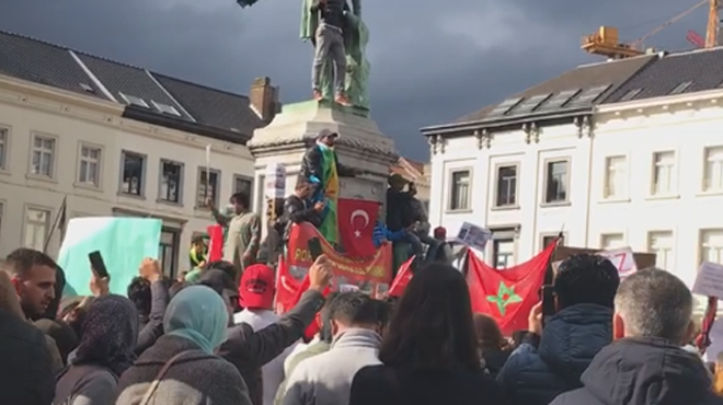 Un millier de manifestants à Bruxelles contre les violences en Birmanie: