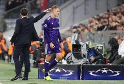 Ligue des Champions - Anderlecht, rapidement réduit à 10, s'incline 3-0 sur la pelouse du Bayern Munich